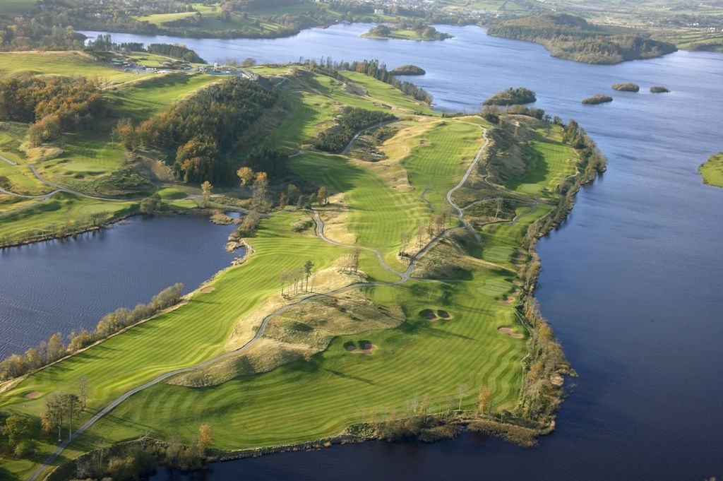 Aerial Shot of Concra Wood Golf Club at Lough Muckno 1